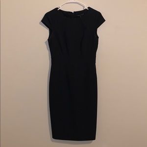 Cute Antonio Melani pin-stripped navy blue dress!